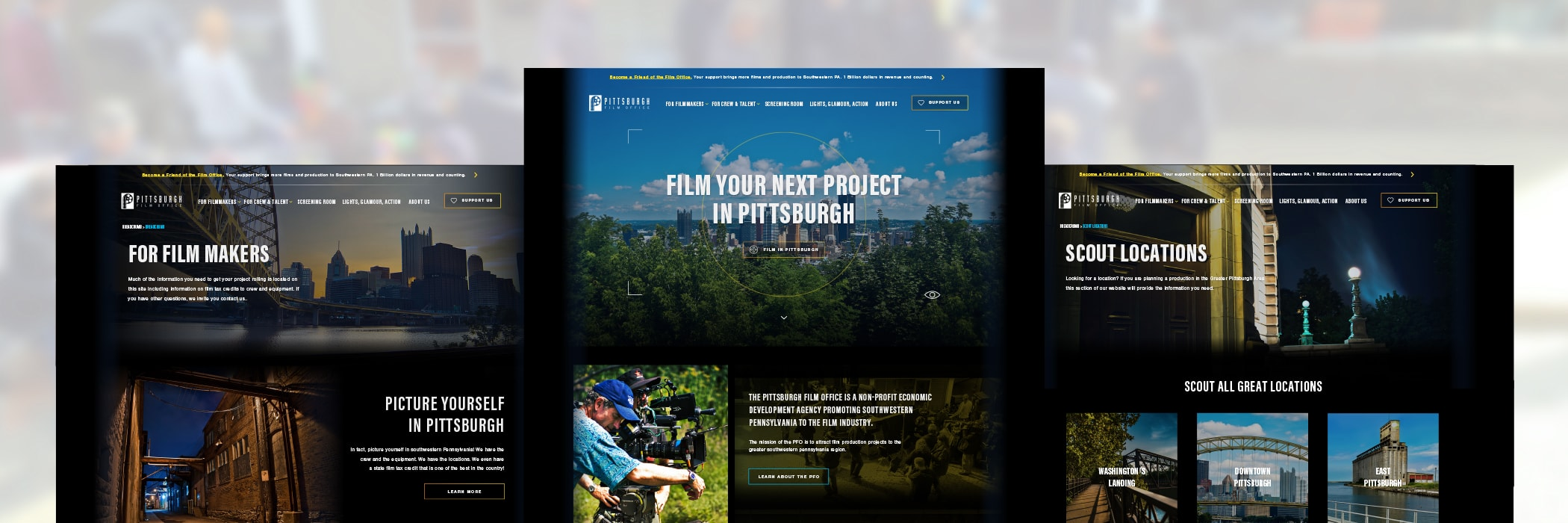 Pittsburgh Film Office Brand Website