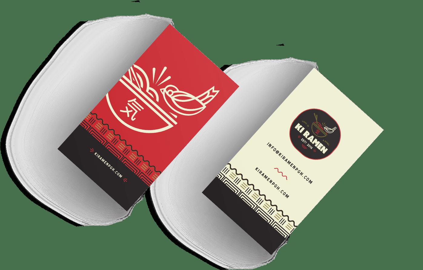 Ki Ramen Brand Business Card
