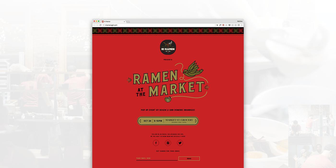 Ki Ramen Brand Website